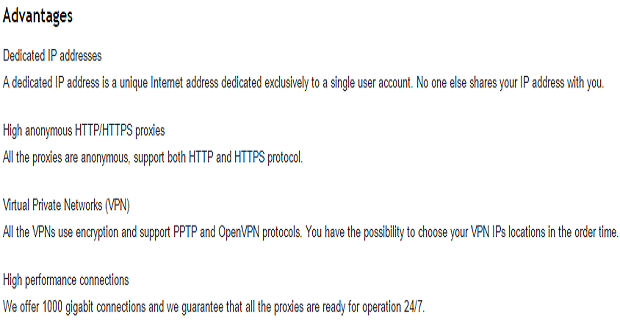 SSL Private Proxy - Dedicated IP addresses with HTTP/HTTPS protocol